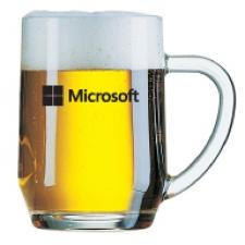 סרמוני-כוס בירה חלקה עם ידית 560 מ