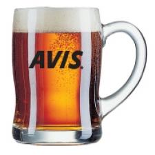 סרפן- כוס בירה גל עם ידית 450 מ