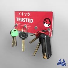מתלה מפתחות מתמגנט לדלת