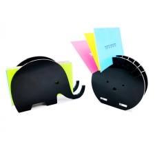 מעמד לכרטיסי ביקור בצורת פיל או קיפוד
