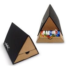 קופסת נרות משולשת